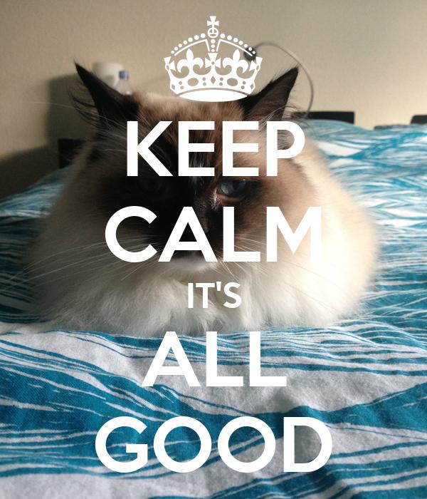 KEEP CALM IT'S ALL GOOD