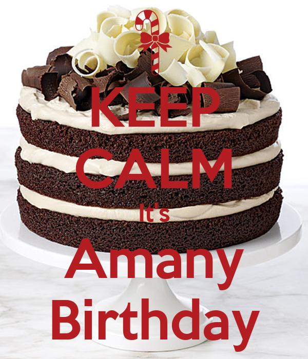 KEEP CALM It's Amany Birthday