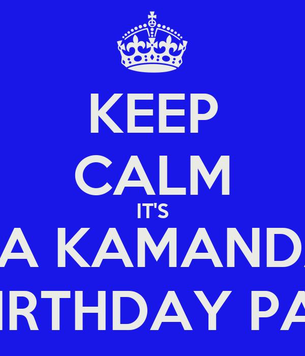 KEEP CALM IT'S ARYA KAMANDANU 1st BIRTHDAY PARTY