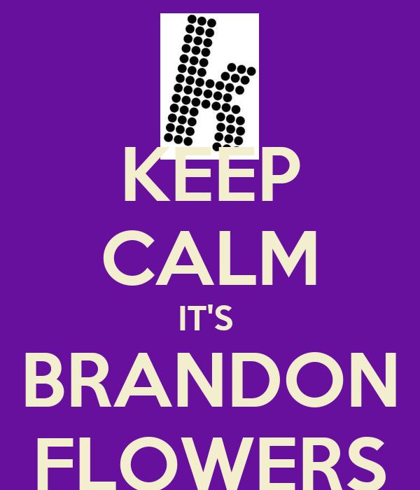 KEEP CALM IT'S  BRANDON FLOWERS