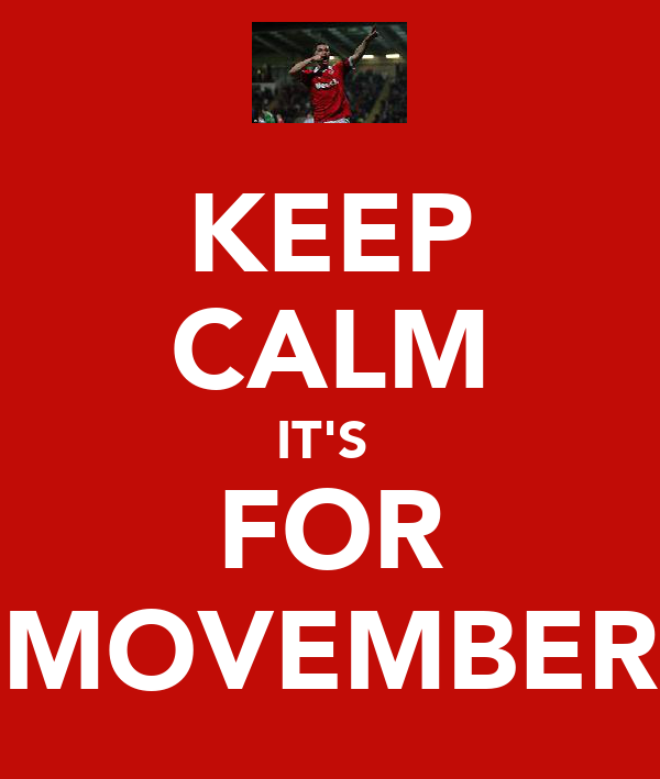 KEEP CALM IT'S  FOR MOVEMBER