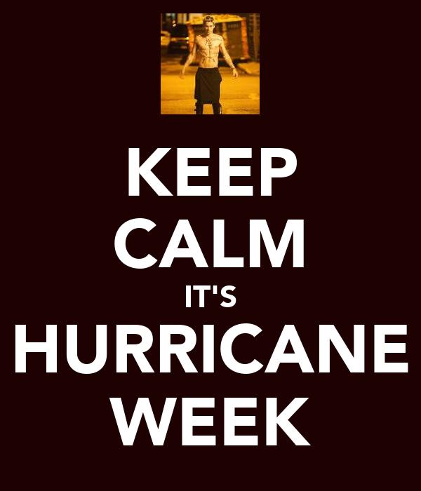KEEP CALM IT'S HURRICANE WEEK