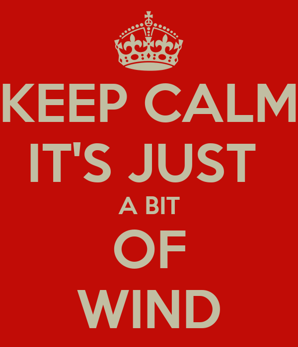 KEEP CALM IT'S JUST  A BIT OF WIND