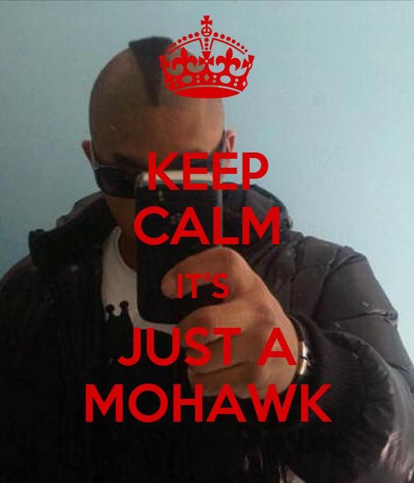 KEEP CALM IT'S  JUST A MOHAWK