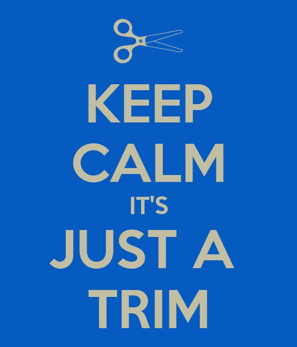 KEEP CALM IT'S JUST A  TRIM