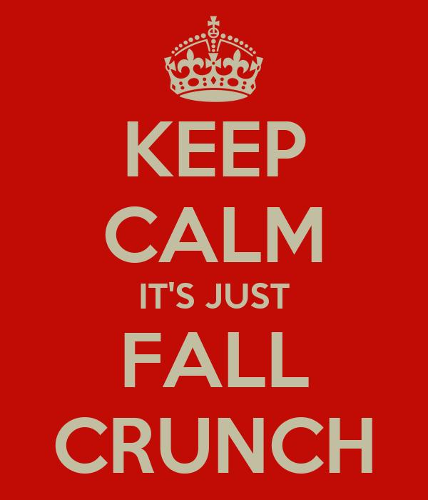 KEEP CALM IT'S JUST FALL CRUNCH