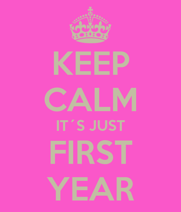 KEEP CALM IT´S JUST FIRST YEAR