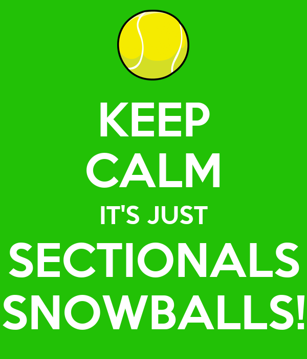 KEEP CALM IT'S JUST SECTIONALS SNOWBALLS!