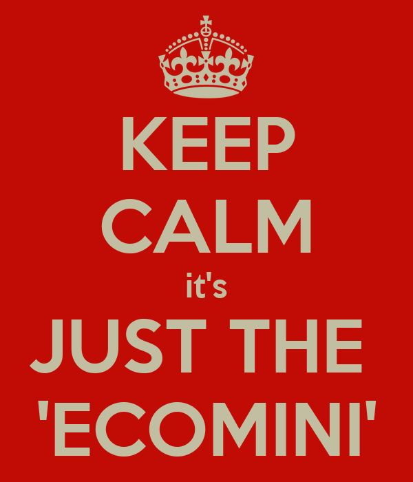 KEEP CALM it's JUST THE  'ECOMINI'