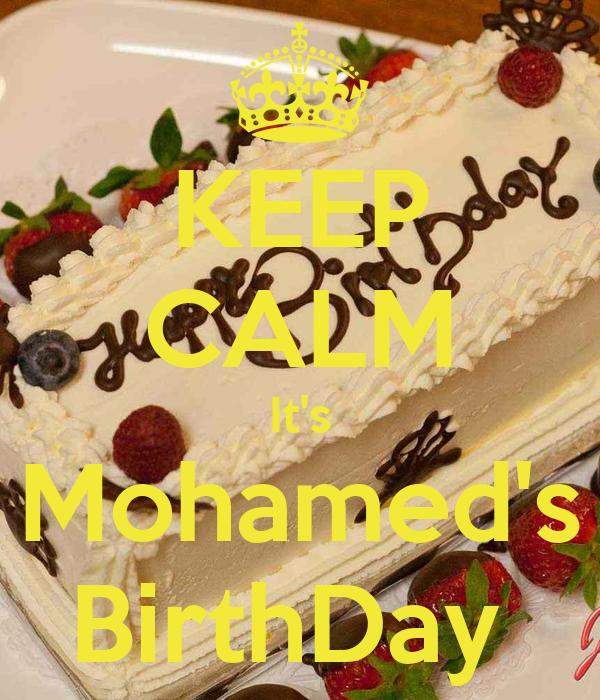 KEEP CALM It's Mohamed's BirthDay