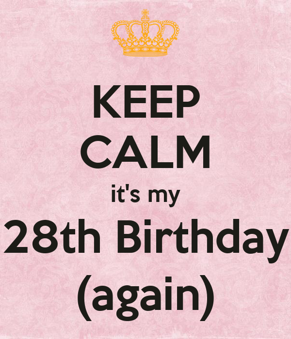 KEEP CALM it's my 28th Birthday (again)