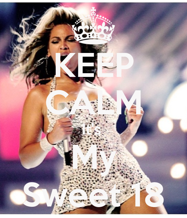 KEEP CALM It's  My Sweet 18