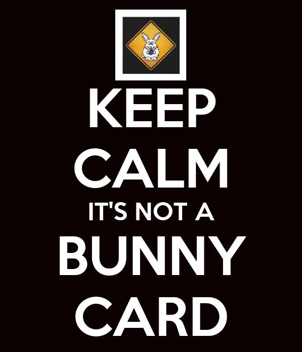 KEEP CALM IT'S NOT A BUNNY CARD