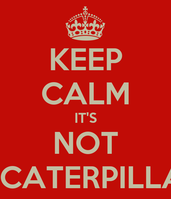 KEEP CALM IT'S NOT A CATERPILLAR
