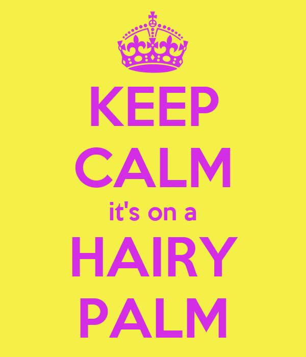 KEEP CALM it's on a HAIRY PALM