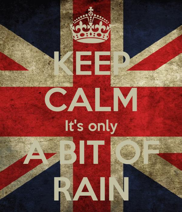 KEEP CALM It's only A BIT OF RAIN