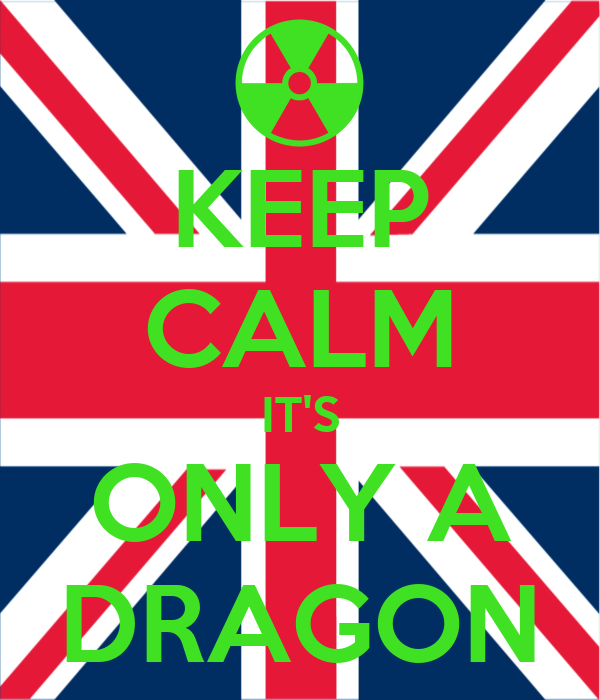 KEEP CALM IT'S ONLY A DRAGON