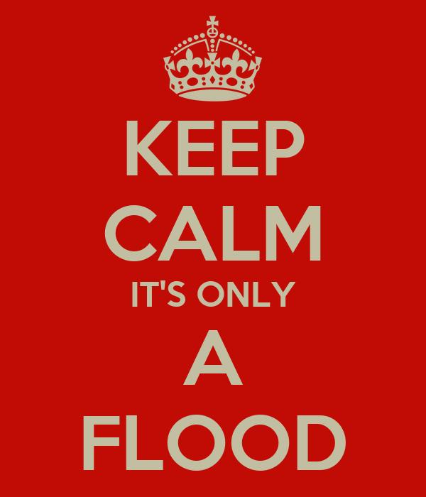 KEEP CALM IT'S ONLY A FLOOD