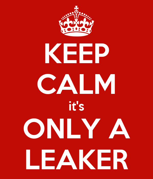 KEEP CALM it's ONLY A LEAKER