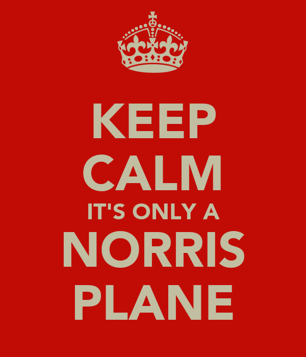 KEEP CALM IT'S ONLY A NORRIS PLANE