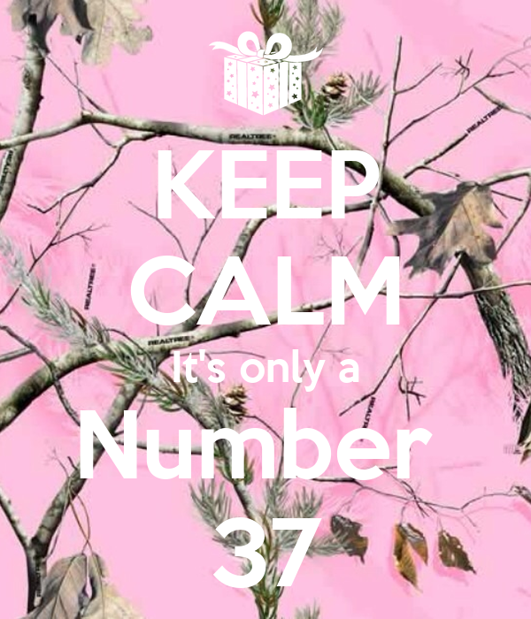 KEEP CALM It's only a Number  37