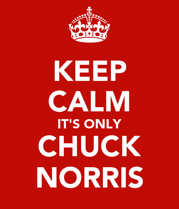 KEEP CALM IT'S ONLY CHUCK NORRIS
