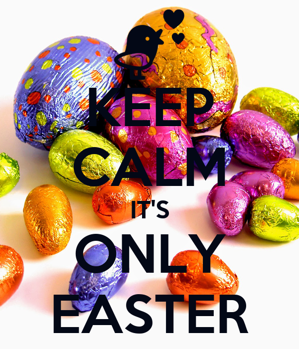KEEP CALM IT'S ONLY EASTER