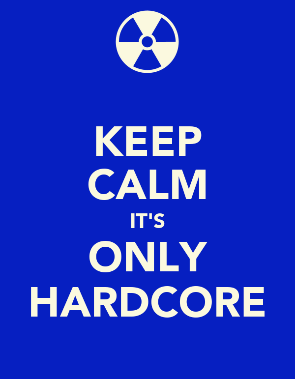 KEEP CALM IT'S ONLY HARDCORE