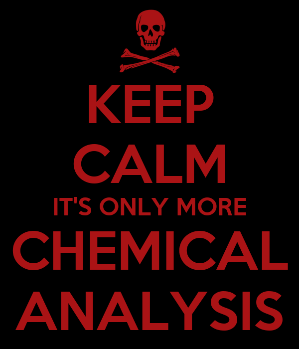 KEEP CALM IT'S ONLY MORE CHEMICAL ANALYSIS