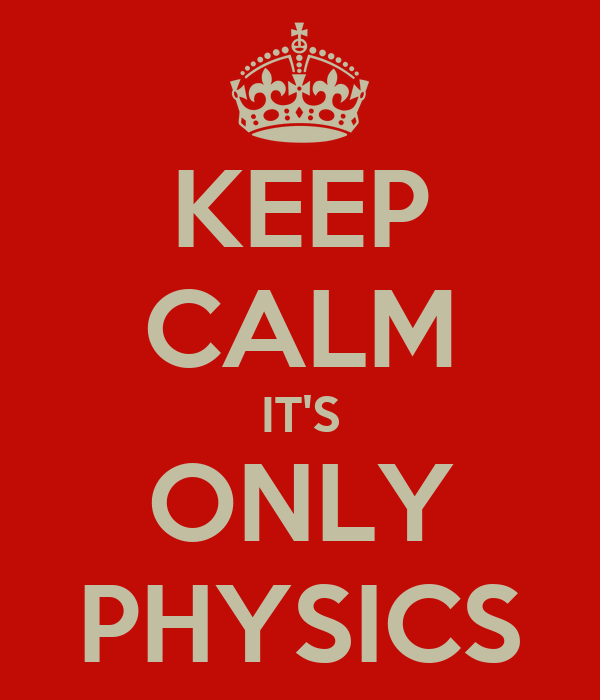 KEEP CALM IT'S ONLY PHYSICS