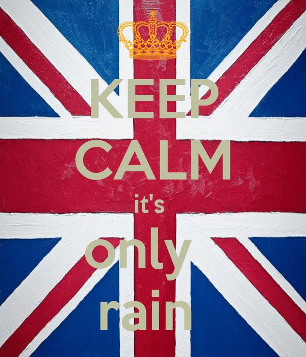 KEEP CALM it's  only   rain