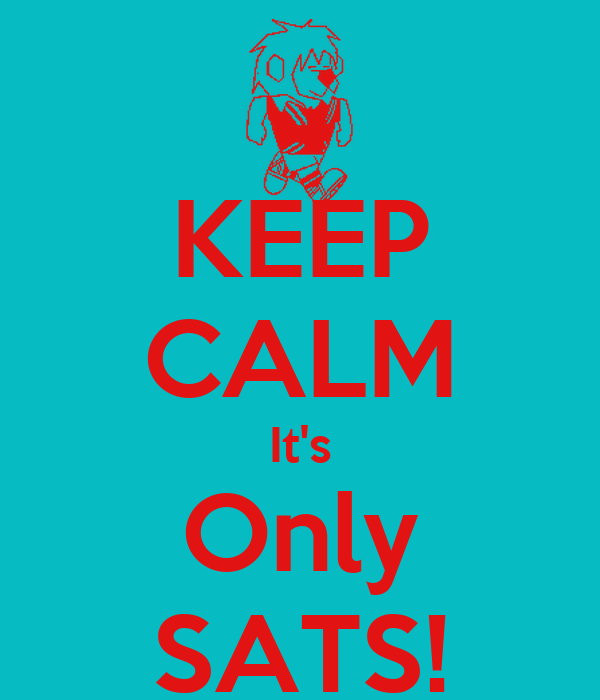 KEEP CALM It's Only SATS!