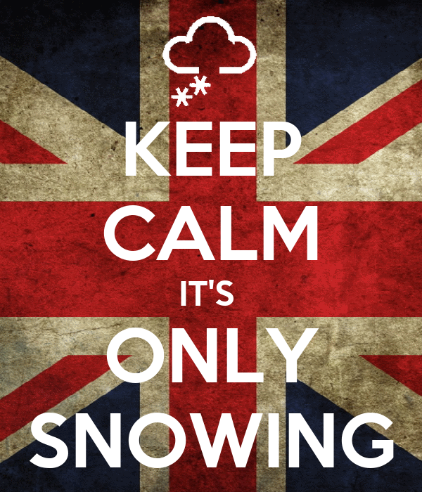 KEEP CALM IT'S  ONLY SNOWING