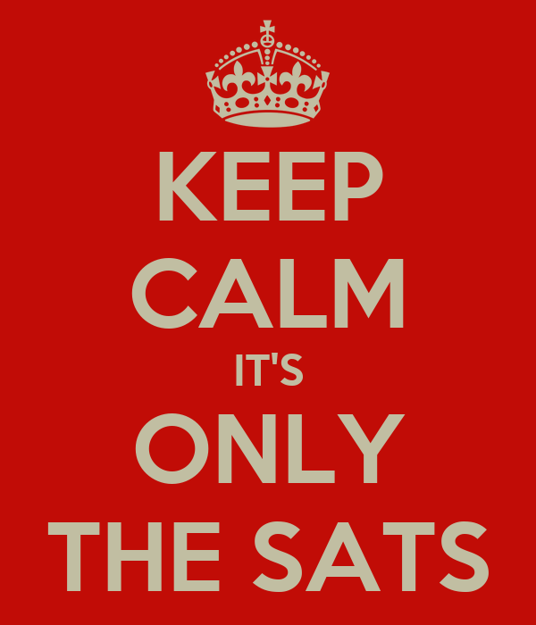 KEEP CALM IT'S ONLY THE SATS