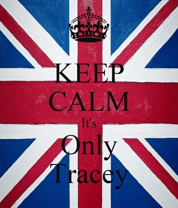 KEEP CALM It's Only Tracey
