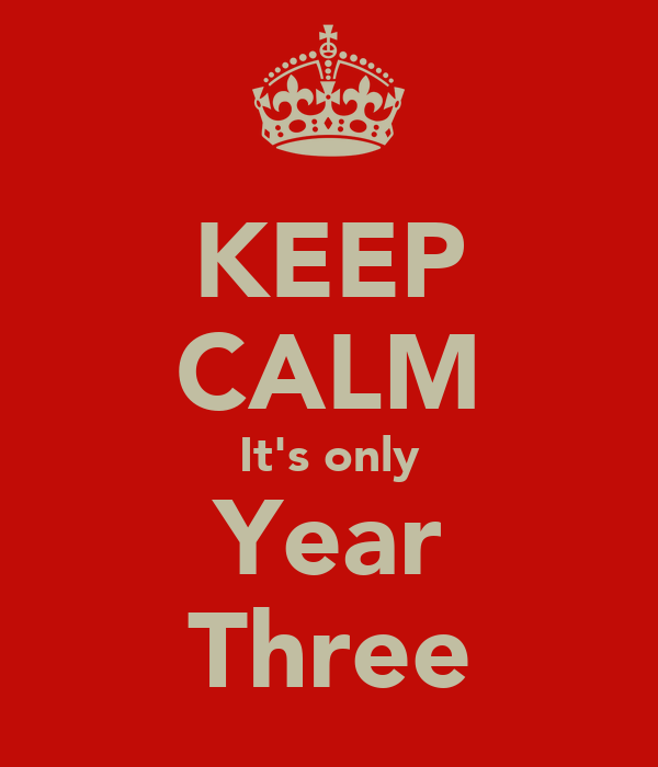 KEEP CALM It's only Year Three