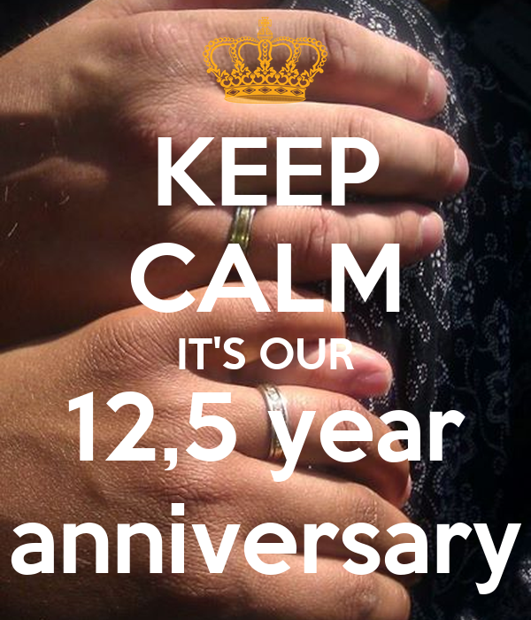KEEP CALM IT'S OUR 12,5 year anniversary