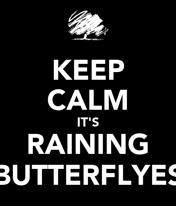 KEEP CALM IT'S RAINING BUTTERFLYES