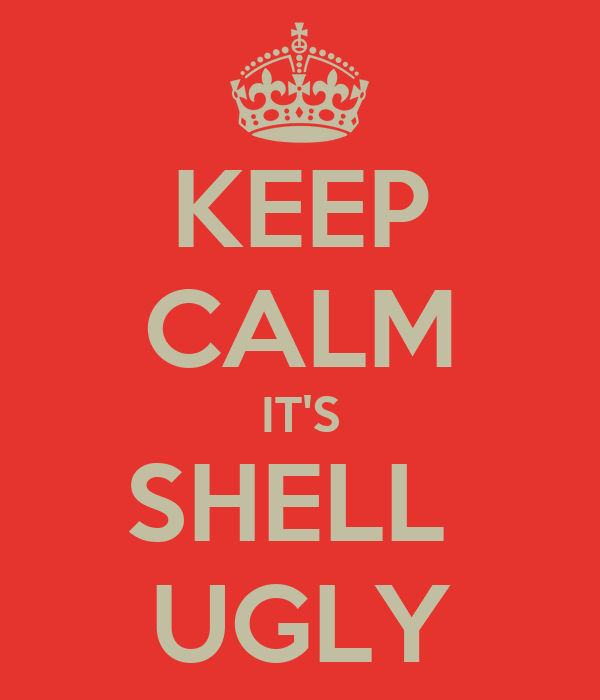 KEEP CALM IT'S SHELL  UGLY