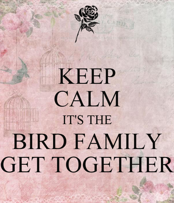 KEEP CALM IT'S THE BIRD FAMILY GET TOGETHER