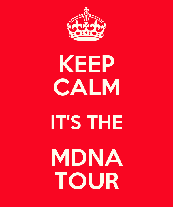 KEEP CALM IT'S THE MDNA TOUR