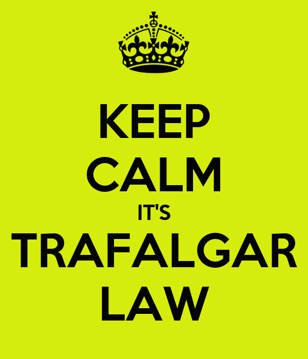 KEEP CALM IT'S TRAFALGAR LAW