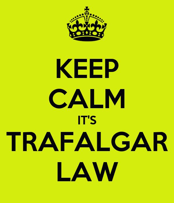 KEEP CALM IT'S TRAFALGAR LAW