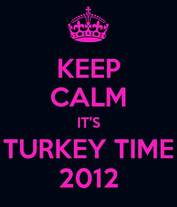 KEEP CALM IT'S TURKEY TIME 2012