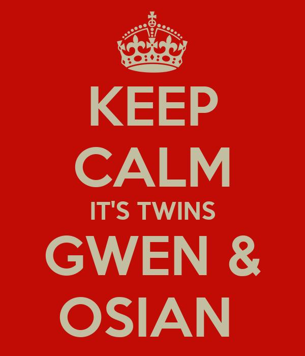 KEEP CALM IT'S TWINS GWEN & OSIAN