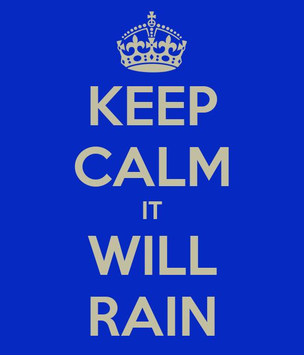 KEEP CALM IT WILL RAIN