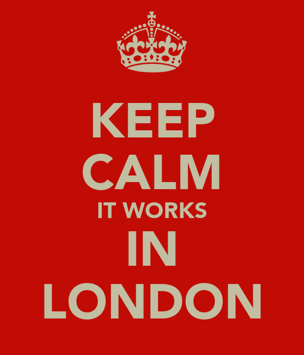 KEEP CALM IT WORKS IN LONDON