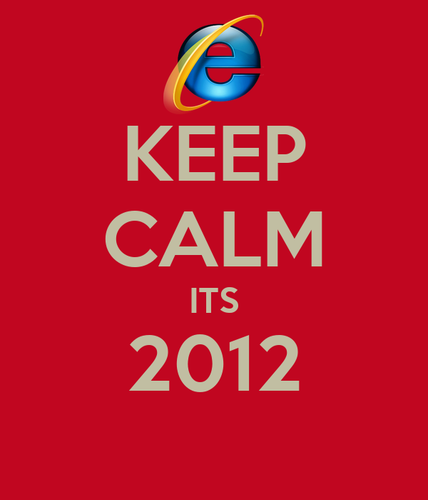 KEEP CALM ITS 2012