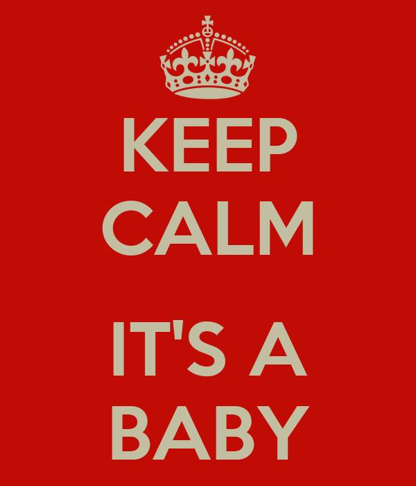 KEEP CALM  IT'S A BABY