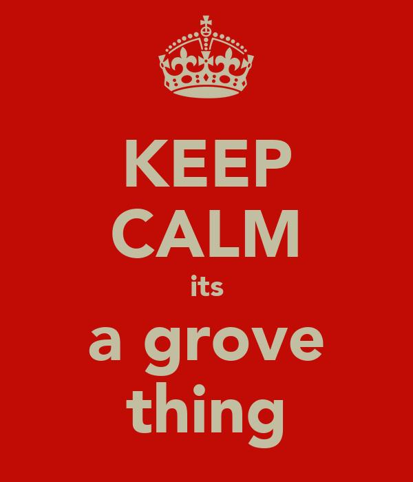 KEEP CALM its a grove thing